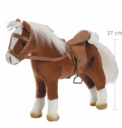Götz Hest, sadel og hovedtøj brun 27 cm-20