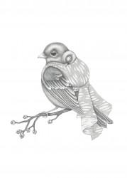 Kajsa Wallin Print Sparrow 50 x 70 cm-20