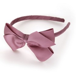 Verity Jones London Rosy Mauve alice hair band large-20