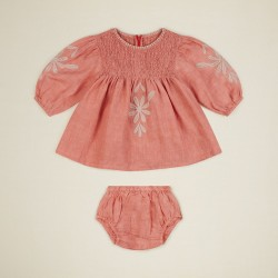 Apolina Baby Noelle Dress Set faded coral-20