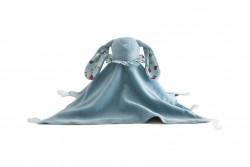 Pamplemousse PELUCHES Doudou Lapin BIO bleu-20