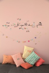 "MIMI´lou Wallborder ""Paris"" wallsticker-20"