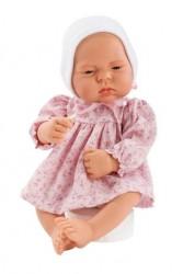 Asi dukke Lucia kjole blomstret lyserød og hvid kyse 42 cm-20