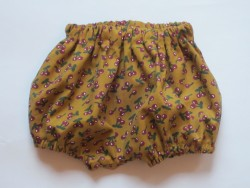 astas Bloomers baby fløjl mustard/cherries limited edition-20
