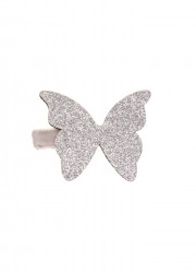 Bon Dep Hårspænde Butterfly aligator clip silver-20