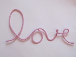 blossom Knitted word LOVE powder-20