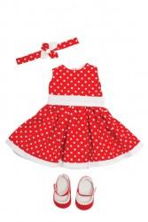 Bonnie and Pearl Dukketøj Red Dress 46-50 cm-20