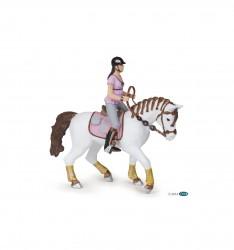 papo figur Ridepige og Hest hvid/pink-20
