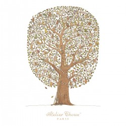 ATELIER CHOUX Carré FRIENDS and FAMILY TREE-20