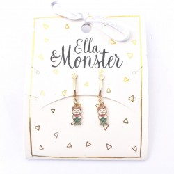 Ella and Monster Clips Øreringe Mermaid Cat-20