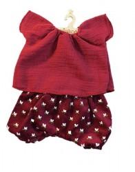 minikane Dukketøj sæt bloomers og bluse vin-20