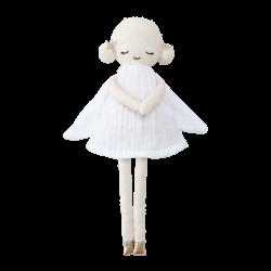 Fabelab Kludedukke Winter Fairy white økologisk 30 cm-20