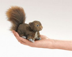 Folkmanis Fingerdukke Mini Red Squirrel-20