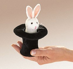 Folkmanis Mini Rabbit In Hat fingerdukke-20