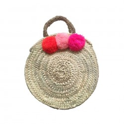 ROSE IN APRIL Pompom Basket Gaby orange/light pink/neon pink-20