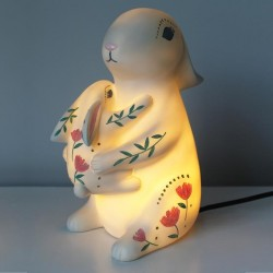 Disaster Designs Lampe Mother and Baby Rabbit-20
