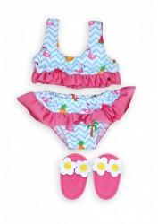 Heless Dukke Bikini m/slipers Flamingo 35-45 cm-20