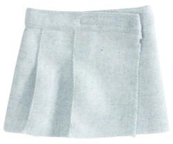 maileg Mini Wool Tweed Nederdel blå-20