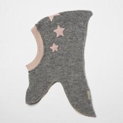 HUTTEliHUT elefanthue light grey/rosa star-20