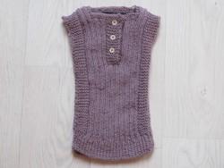 astas vest baby alpaca wool light lavender-20