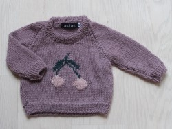 astas Cherry sweater double leaf light lavender-20