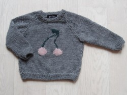 astas Cherry Sweater grey/pink cherry-20
