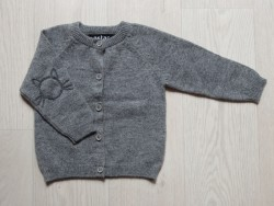 astas cashmere Cardigan with Cat grey-20