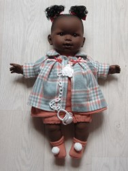 Llorens mørk dukke 42 cm-20