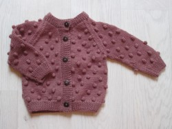 Shirley Bredal Bubble cardigan berry-20