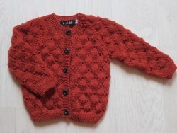 astas Clover cardigan light rust-20