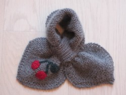 astas Cherry scarf grey/red cherry-20