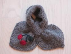 astas Cherry scarf grey/red cherry-20