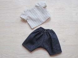 minikane Dukketøj Bukser og Bluse cream, blue-20