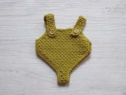 minikane Dukketøj Sparkedragt mustard-20