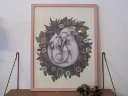 Kajsa Wallin Print Summer Foxes 30 x 40 cm med ramme-20