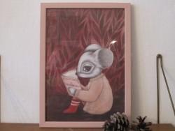 Kajsa Wallin Print La Deuxiéme Sexe A4 incl. rosa ramme-20