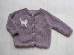astas Kitty Cat cardigan dusty rose-20