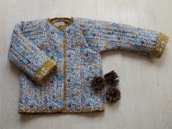 astas quilted liberty jacket blue/mustard flowers-20
