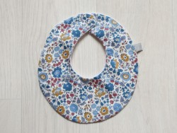 astas Bib liberty Blue/mustard/rust flowers-20