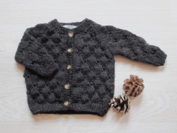 astas Clover cardigan dark brown-20