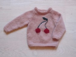 astas Cherry Sweater candy floss pink/ red cherry-20