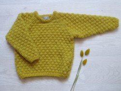 Astas Sweater Fluffy Bubble mustard-20