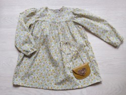 Astas Kjole Yellow Dream Dress yellow/pink/cream liberty stof-20