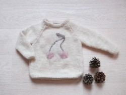 astas Cherry Sweater Fluffy Cherry creme/pink cherry-20
