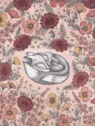Kajsa Wallin Print Floral Foxes 30x40 cm-20