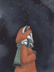 Kajsa Wallin Print Night Foxes 30x40 cm-20