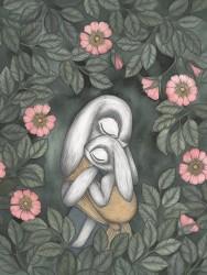 Kajsa Wallin Print Wild Roses 30x40 cm-20
