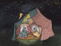 Kajsa Wallin Print A Camping Adventure 30x40 cm-20