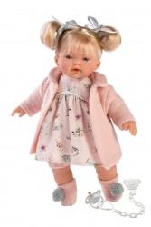Llorens lyshåret dukke 33 cm rosa tøj-20