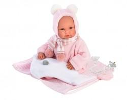 Llorens Babydukke 36 cm lyserød m/bæresele-20